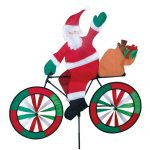Santa Claus On Bicycle