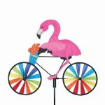 Flamingo Bike Spinner Windsock