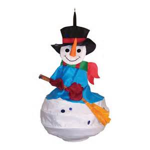 Holiday Snowman Windsock
