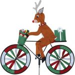 Reindeer On Bicycle