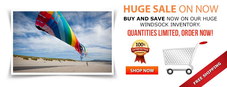 Fish windsock camping caravanning Rainbow stripe windsock Great for festivals