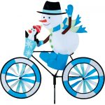 Snowman On Bike Holiday