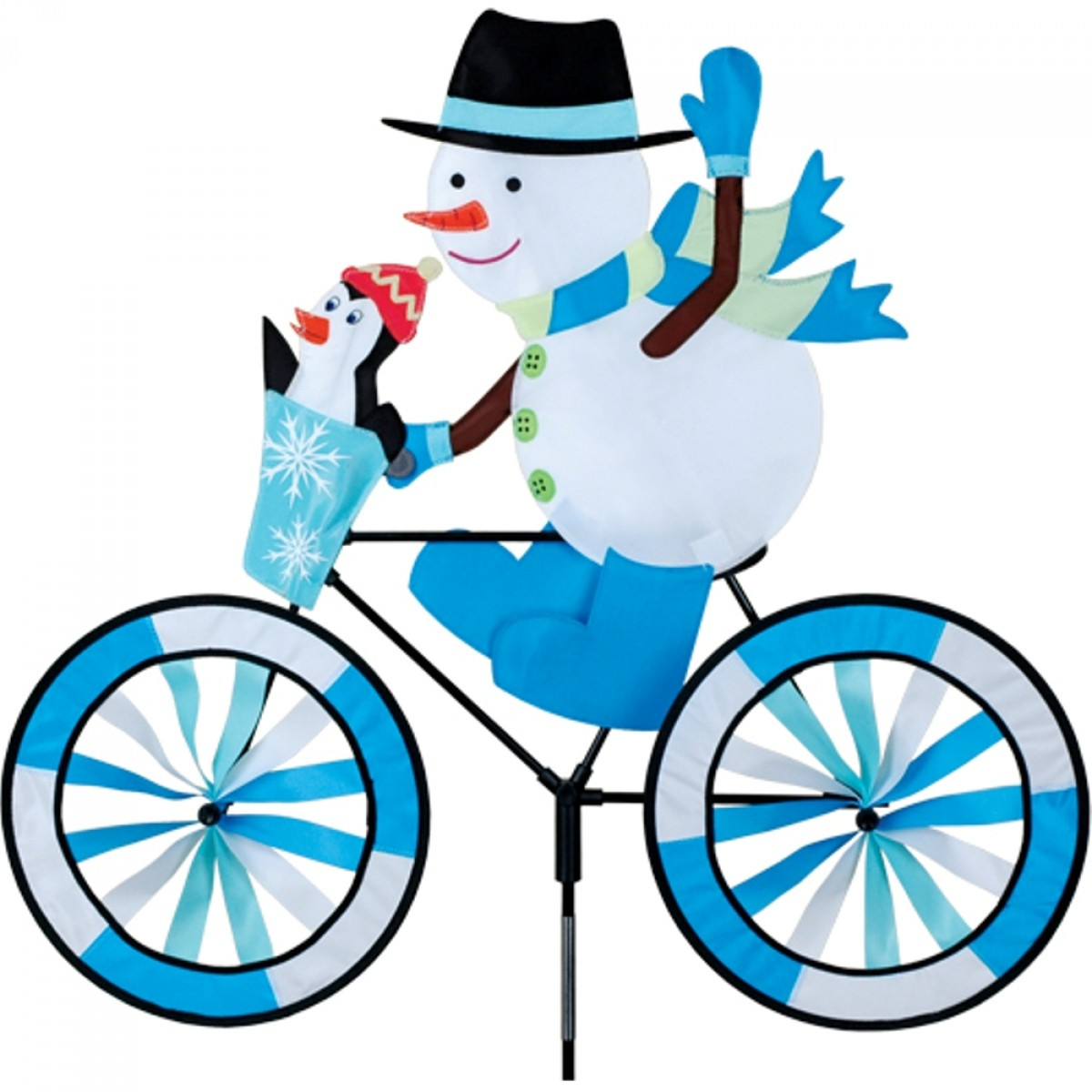 Snowman Bicycle Windsock 3D Spinner